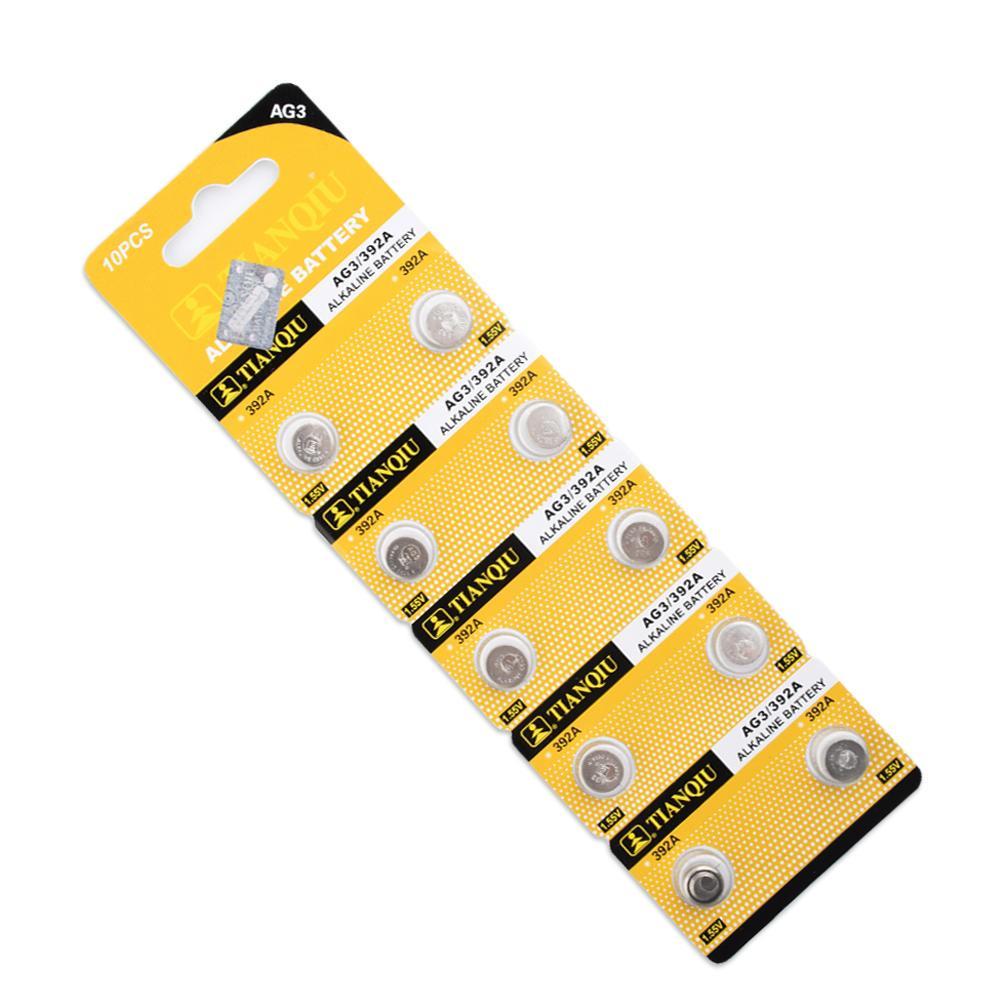 Смотреть батареи 10 штук AG3 LR41 392 SR41 192 LR736 кнопку монета батареи 1.55V фото