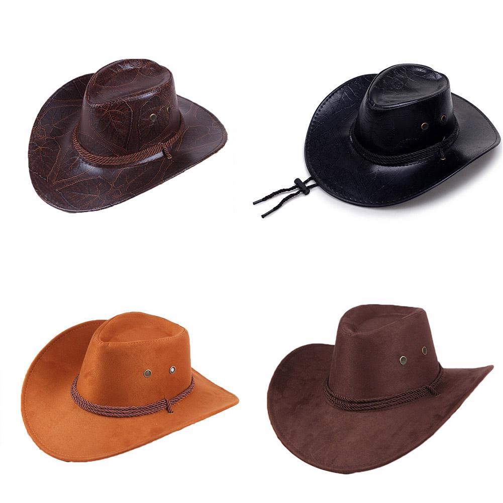 Mens Western Cowboy Hats Outdoor Travel Fashion Sun Caps Unisex