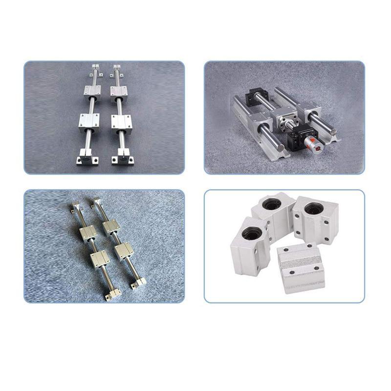 "8mm Dia Length 15.7/""//400mm shafts with 2pcs LM8UU Rod Rail Linear Bearing Motion"