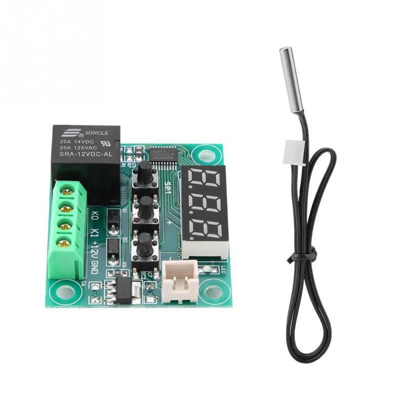 Thermostat PID num/érique Contr/ôleur 12/V DC 110/℃ avec relais statique panneau 120/W NTC 10/K lED
