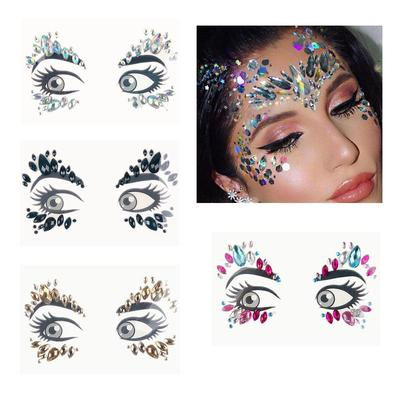 Music Festival Face Diamond Green Resin Eyebrow Party Jewelry Tattoo ... 795def1768cd