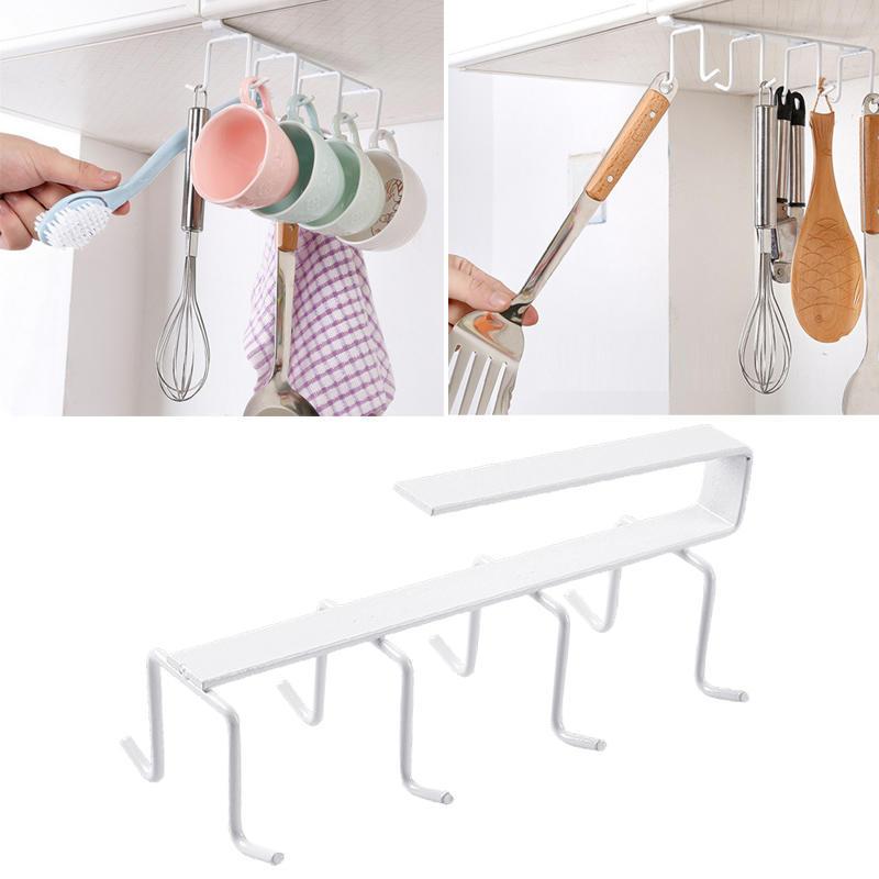 Becherhalter 1pcs 8 Haken hängen Küchenschrank unter Regal Storage ...