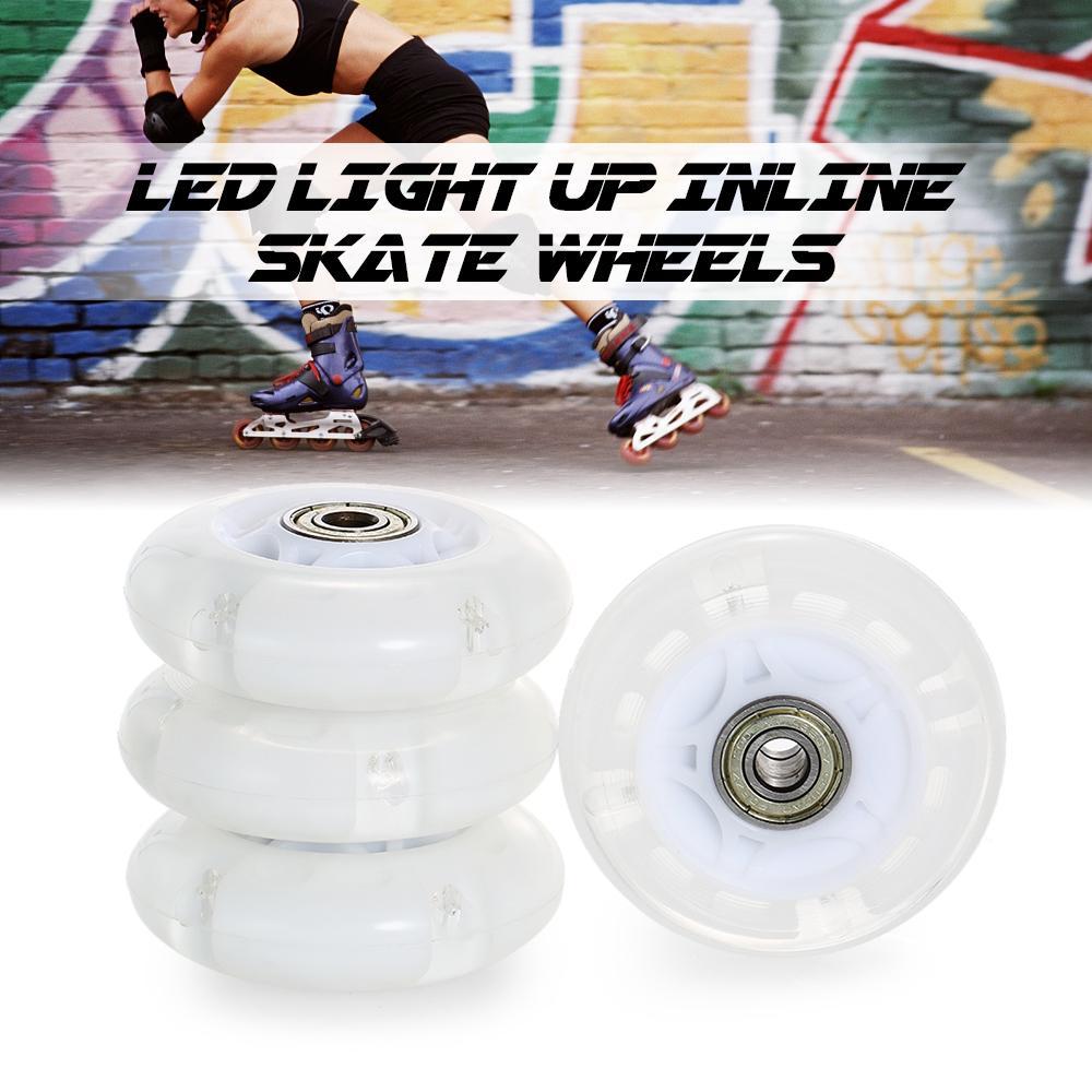 4Pcs 72mm 76mm Inline Skate Wheels Indoor and Outdoor Roller Skating Wheels