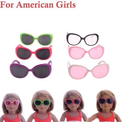 "Doll Accessories Round Colorful Glasses Sunglasses For 18/"" Doll SL"