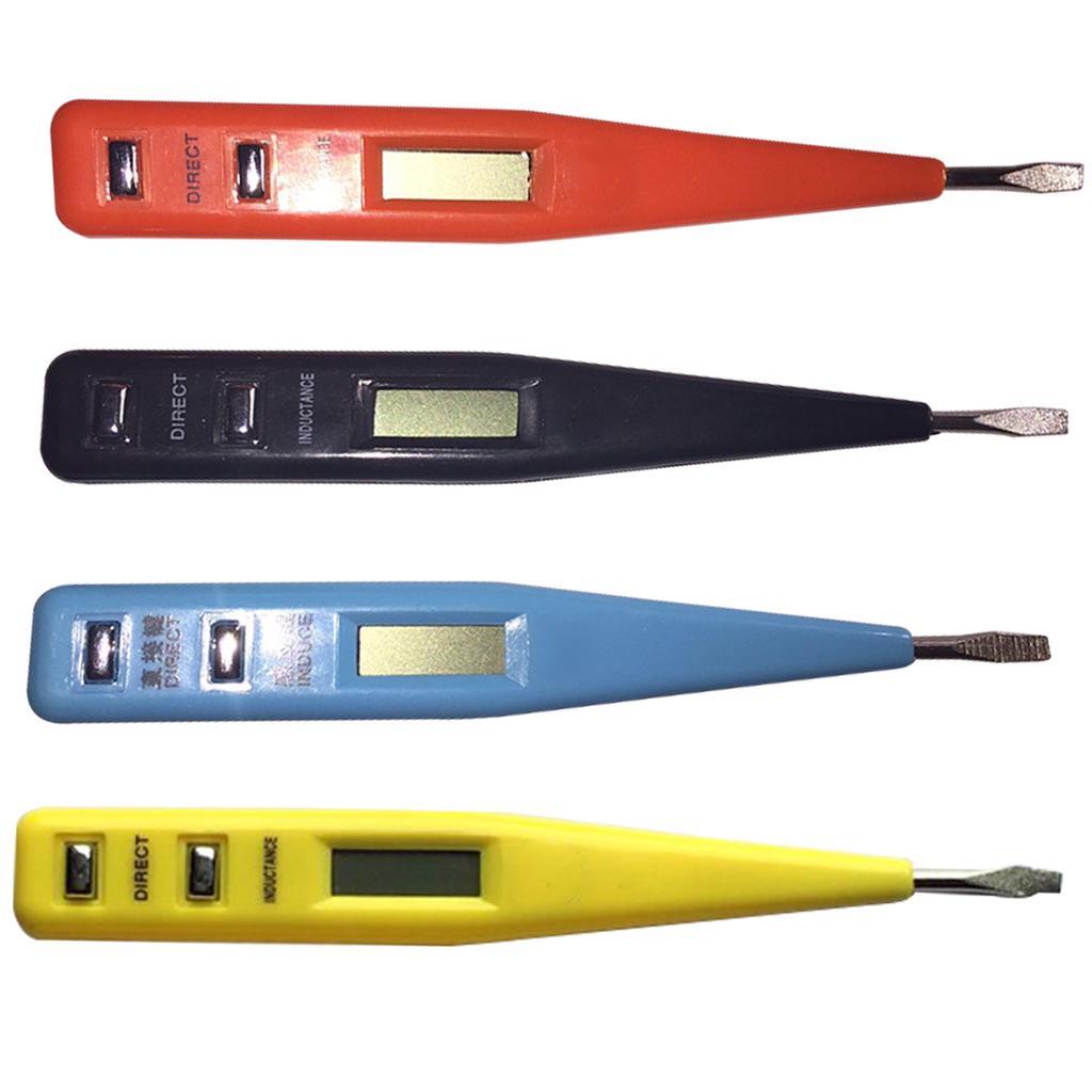1PCS LCD Digital AC//DC Voltage Detector Continuity Tester Pen 12-240V In UK
