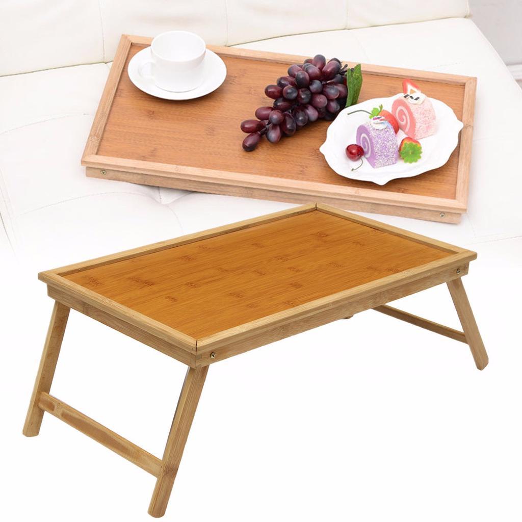 Faltbar Schreibtisch Laptop Computer Verstellbar Tisch Bambusbett mit Schublade
