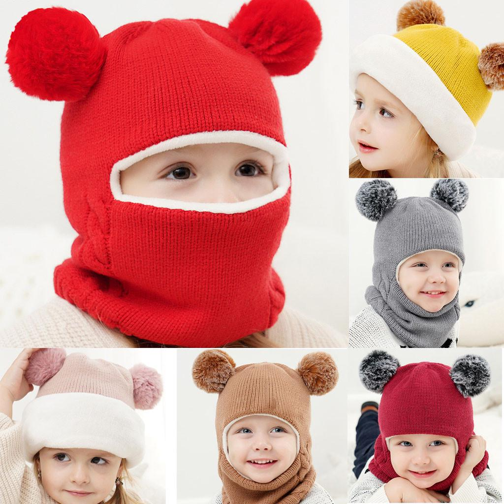 Kids Baby Boy Girls Cotton Scarf Winter Warm Knitted Collar Neck Wrap Scarves VS