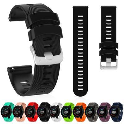 20MM Silicone Wrist Band Strap For Garmin Vivomove3/Forerunner245/Amazfit Health