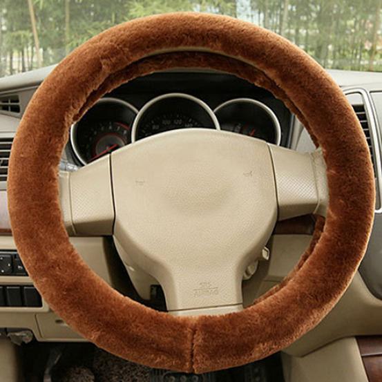 Универсальный автомобиль аксессуар очарование теплый длинный мягкий плюша автомобиля Крышка рулевого колеса фото
