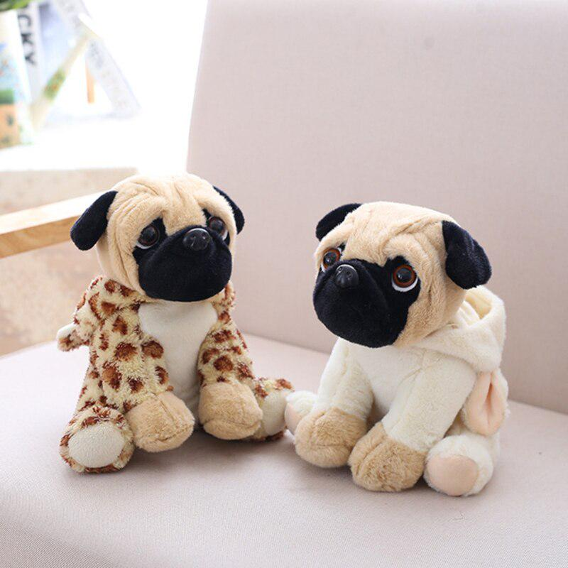 Realistic Pug Stuffed Animal, Dog Doll Plush Toy Hat Dog Doll Simulation Bell Dog Pug Stuffed Animals Toys For Children Gift Buy At A Low Prices On Joom E Commerce Platform