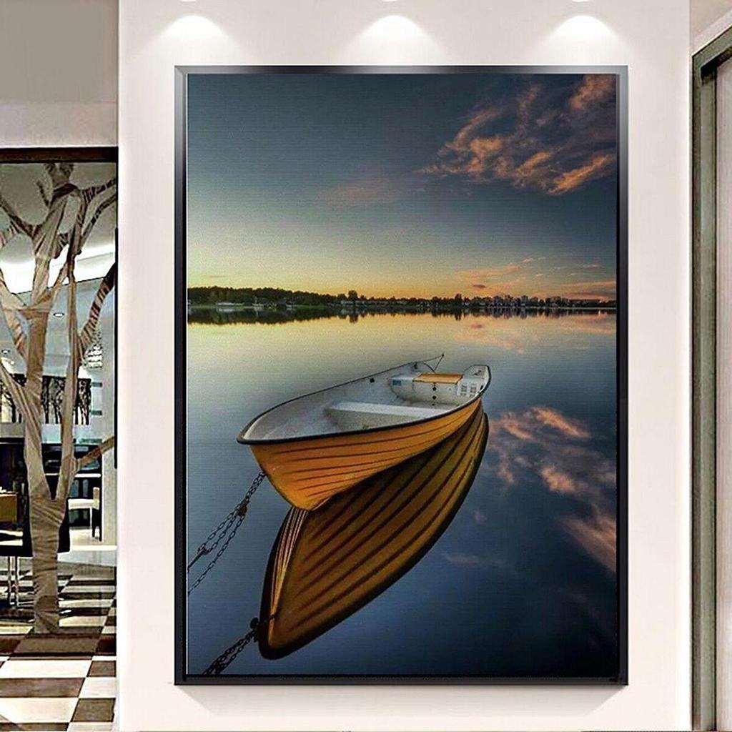 Mar barco arte moderno pintura lienzo impresión imagen no Wallpaper ...