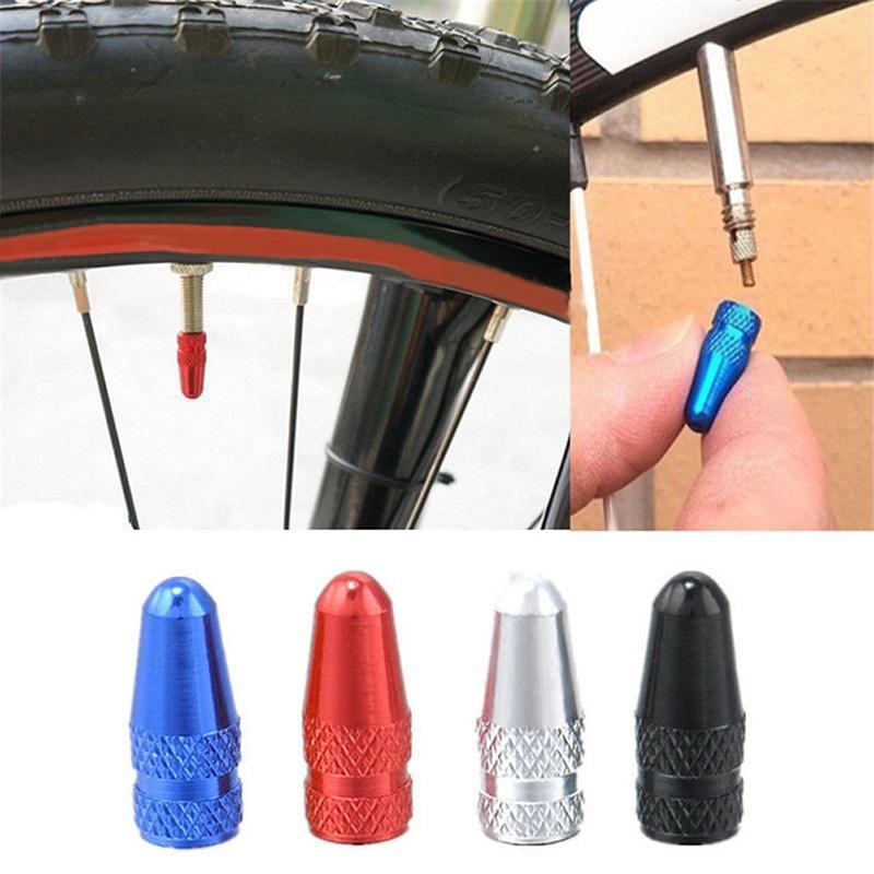 2PCS Lightweight Titanium Alloy Bicycle Valve Cap MTB Bike Tire Gas Dust Cover