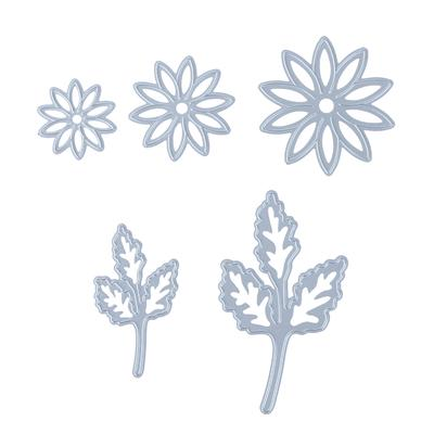 5pcs//set Flowers Metal Cutting Dies Scrapbooking Embossing Paper Card Craft DIY