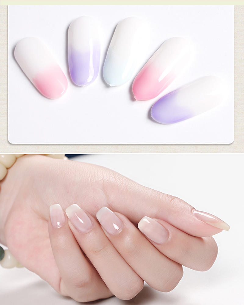 Fashion Nail Art LED UV Top Nails Gel 10ml UV Transparent White Base ...
