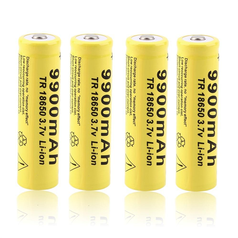 2 Pack 18650 Batteries 3.7V Battery 4000mAh Rechargeable Li-ion Battery Button Top Lithium Ion Battery for Flashlight Torch and Other Electronics Products