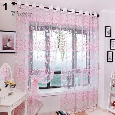 Window Sheer Valance Floral Curtain Bedroom Home Room Wedding Party