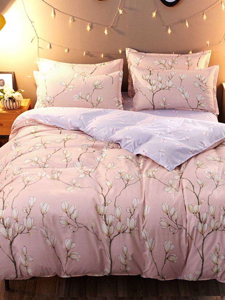 56d75b39e0 SHEIN Allover Flower Print Sheet Set-buy at a low prices on Joom e ...