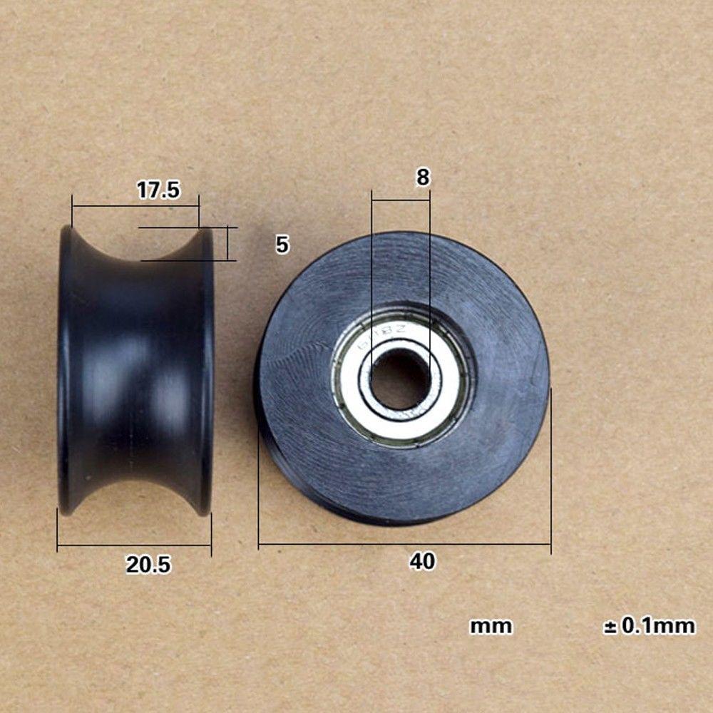 10 8*40*20.7mm 0840UU 8mm Groove Guide Pulley Sealed Rail BallBearing 8*40*20.7