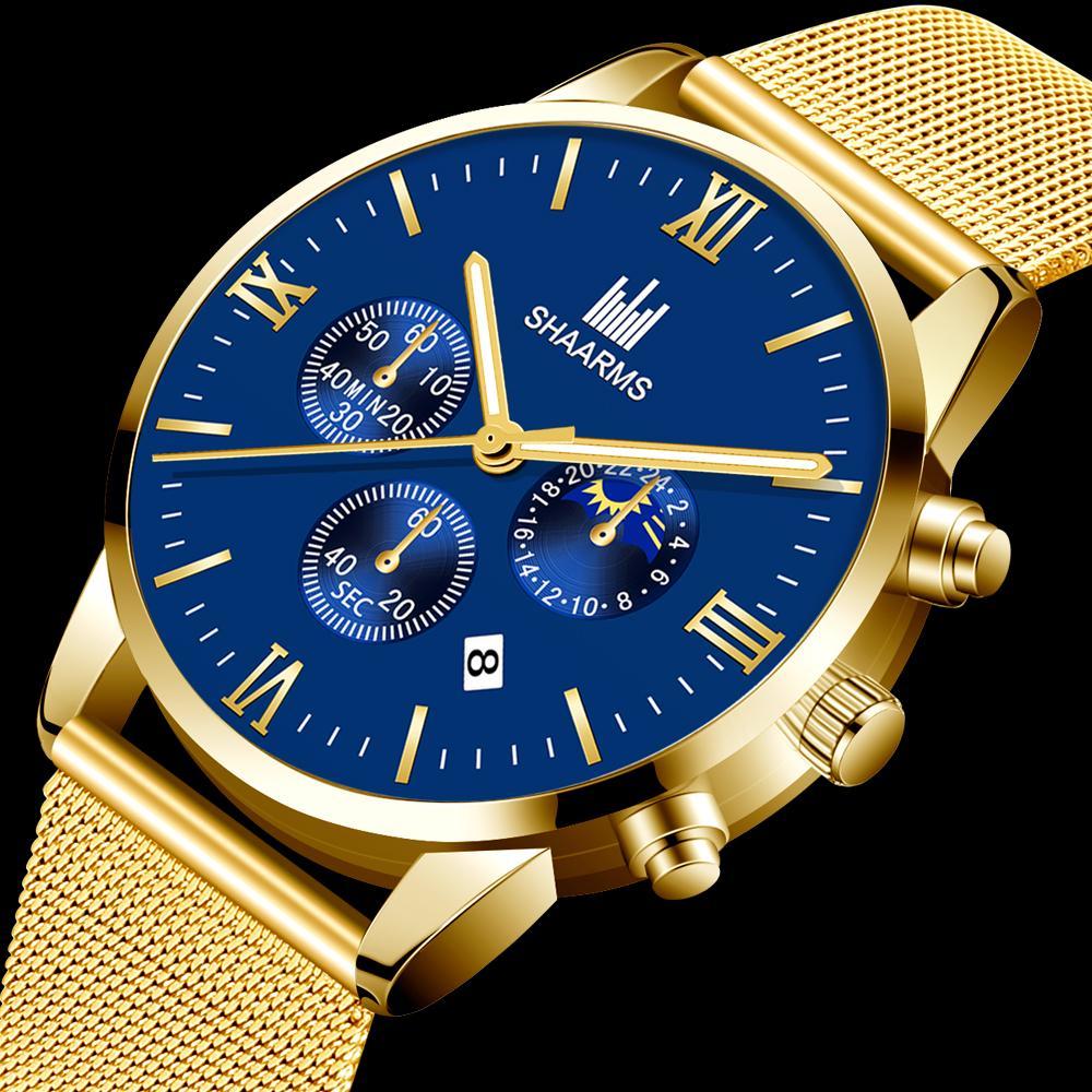 Мужские кварцевые спортивные часы из нержавеющей стали – купить по низким ценам в интернет-магазине Joom