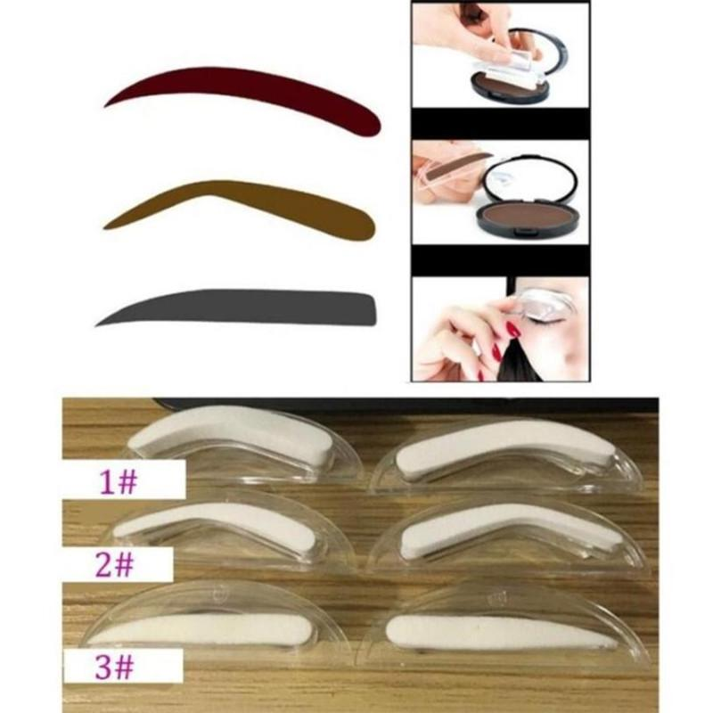 Eyebrow Enhancers Back To Search Resultsbeauty & Health 1pair Eyebrow Template Stamp Sponge Eyebrows Seal Eyebrow Powder Brow Stamp Sponge Eye Brow Lazy Puff Printed Seal Cream