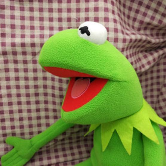 """Kermit Sesame Street Muppets Kermit the Frog Toy Soft plush 17/"""" Gifts Doll"""
