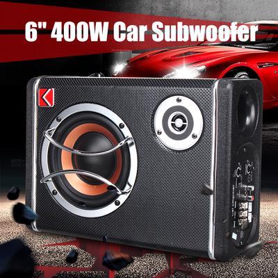 "Active Car Hifi Under-Seat Subwoofer Bass Speaker System 25CM 10 /"" 600W Sub"