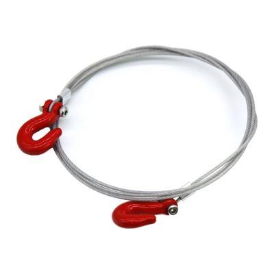 T-power 4 pezzi D-ring paraurti gancio traino rosso per 1:10 RC cingolato Traxxas TRX4 assiale SCX10 90046 D90 D110 TF2 rosso