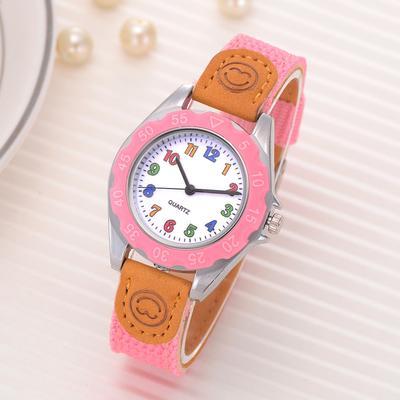 Super Kids Girls Fashion Feature Colorful Strap Sport Quartz Wrist Watch