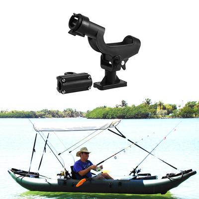 Pour Kayak Bateau Canne À Pêche Rod Holder Tackle Kit Réglable 1PC Side Rail Mount