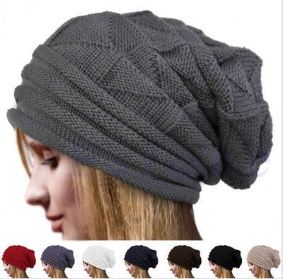 8aacdb36c Kobiety Winter Crochet Hat Wełniane dzianinowe czapki Warm Caps Christma  Gift 3
