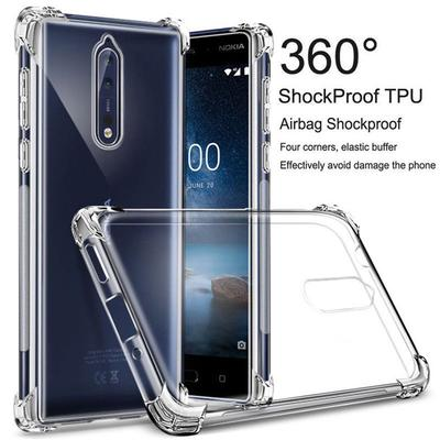 Shockproof Clear Slim Silicone Soft TPU Bumper Protective Back Case Cover For iPhone Huawei Xiaomi Redmi 9A Samsung Galaxy A21s A31 A51 A71 Nokia Etc