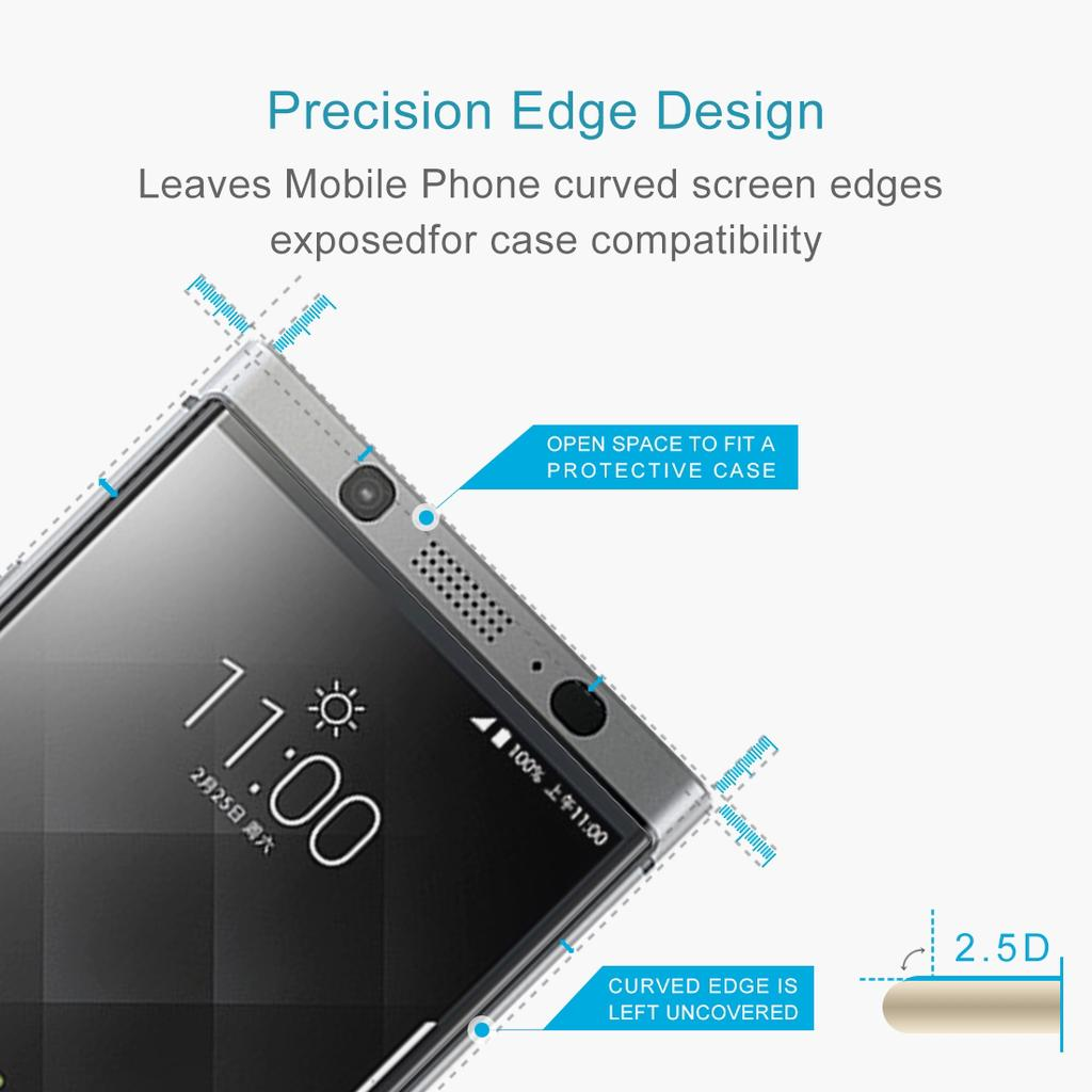 For Blackberry Keyone 026mm 9h Surface Hardness 25d Curved Edge Tempered Glass Full Cover Ampamp Black 1 Of 8