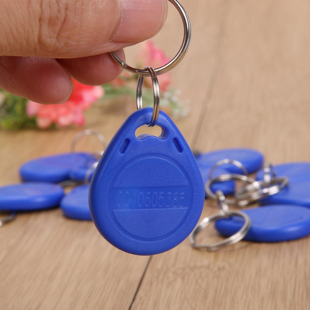 10pcs Security Rewritable Rewrite Magnetic Induction ID RFID Tag Key Ring Card