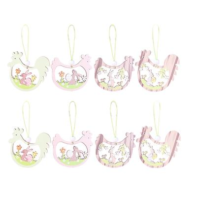 Easter Wooden Hanging Spring Garden Wall Hanging Sign Party Home Decoration LC