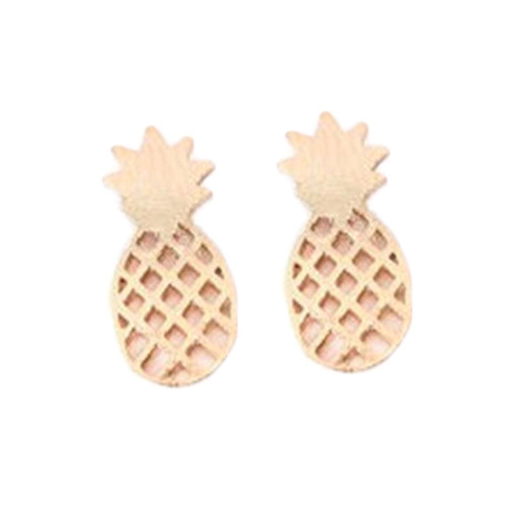 Ananas Rysunek moda Śliczne akcesoria rysunek kolczyki ananas alloy plated tri-color  lovely fruit stud earring - kupić w niskich cenach w sklepie internetowym  joom