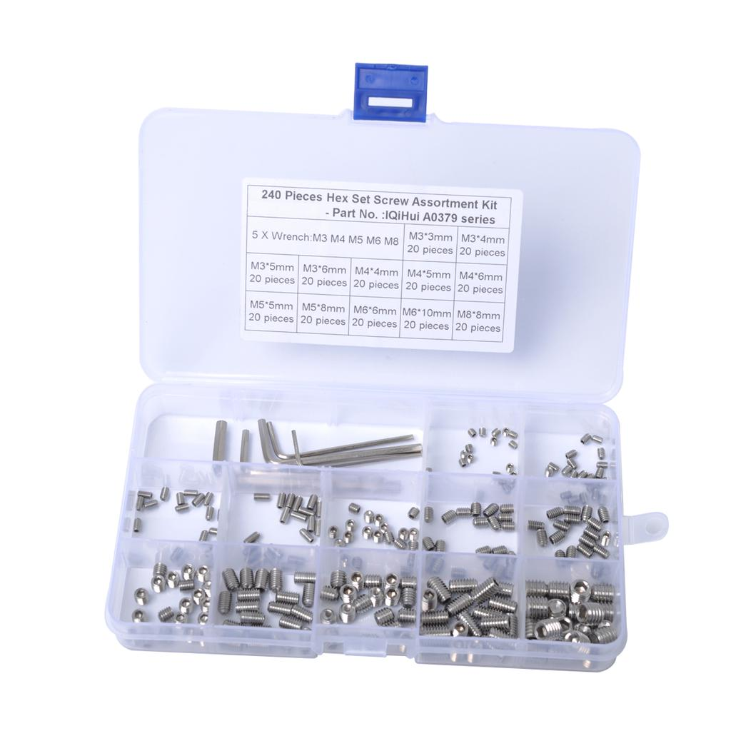Screw Sleeve Sturdy Durable 160pcs M3//M 4//M5//M6 Coiled Wire Thread Repair Insert Stainless Steel Thread Screws Sleeve Set