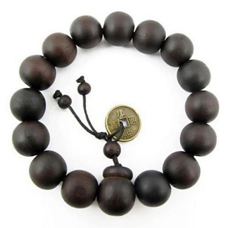 95d89a51246d Perlas de oración budista de madera Buda Tibet pulsera brazalete ...