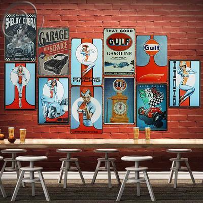 Metal Tin Sign that good gulf gasoline Pub Bar Home Vintage Retro Poster Cafe
