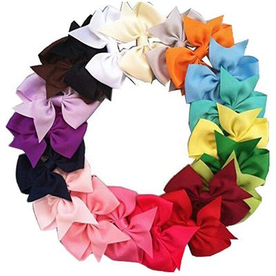 Baby Girls Headbands 20pcs Grosgrain Ribbon Boutique Hair Bow for Girls Teens Toddlers