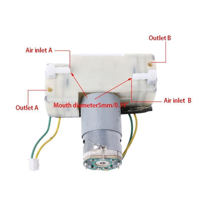 2x 370 Motor 12V Micro Succión De Vacío Bomba de agua sumergible bomba de bajo ruido
