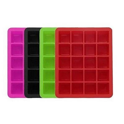20-Cavity Cube Ice Pudding Jelly Maker Mold Mould Tray Silicone Tool