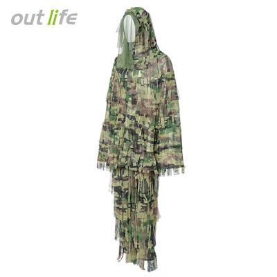9fed0e7407d Outlife 3D Bionic Leaf Camouflage Suit Set for Hunting Birding Ghillie  Clothing