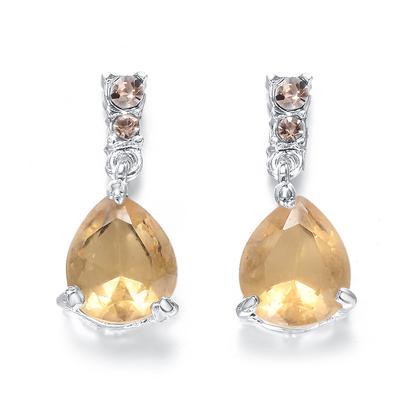 31MM Women Unique Multicolor Hook CZ Stud Earrings For Bridal Engagement Earrings Jewelry