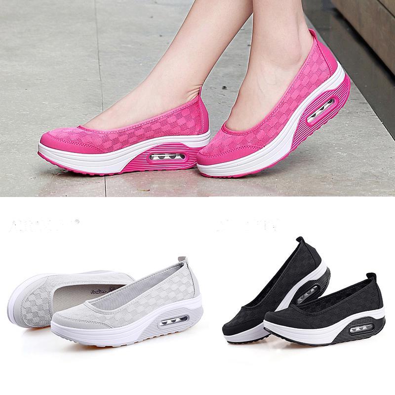 Женские туфли воздушной подушке Shake моды сетки дышащей обувь фото