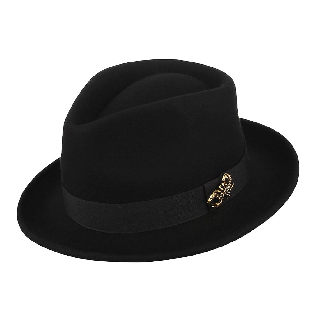 Fedora Hats England Retro Gentlemen Fedoras Top Jazz Hats for Men Panama Cap