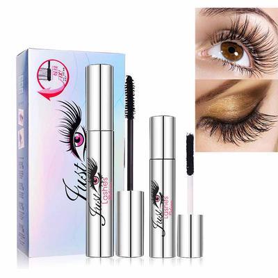 fa238913b5c 2 Pcs Mascara Silk Fiber Set Waterproof Eyelash Extension Curling Thick Makeup  Lash Mascaras Kit