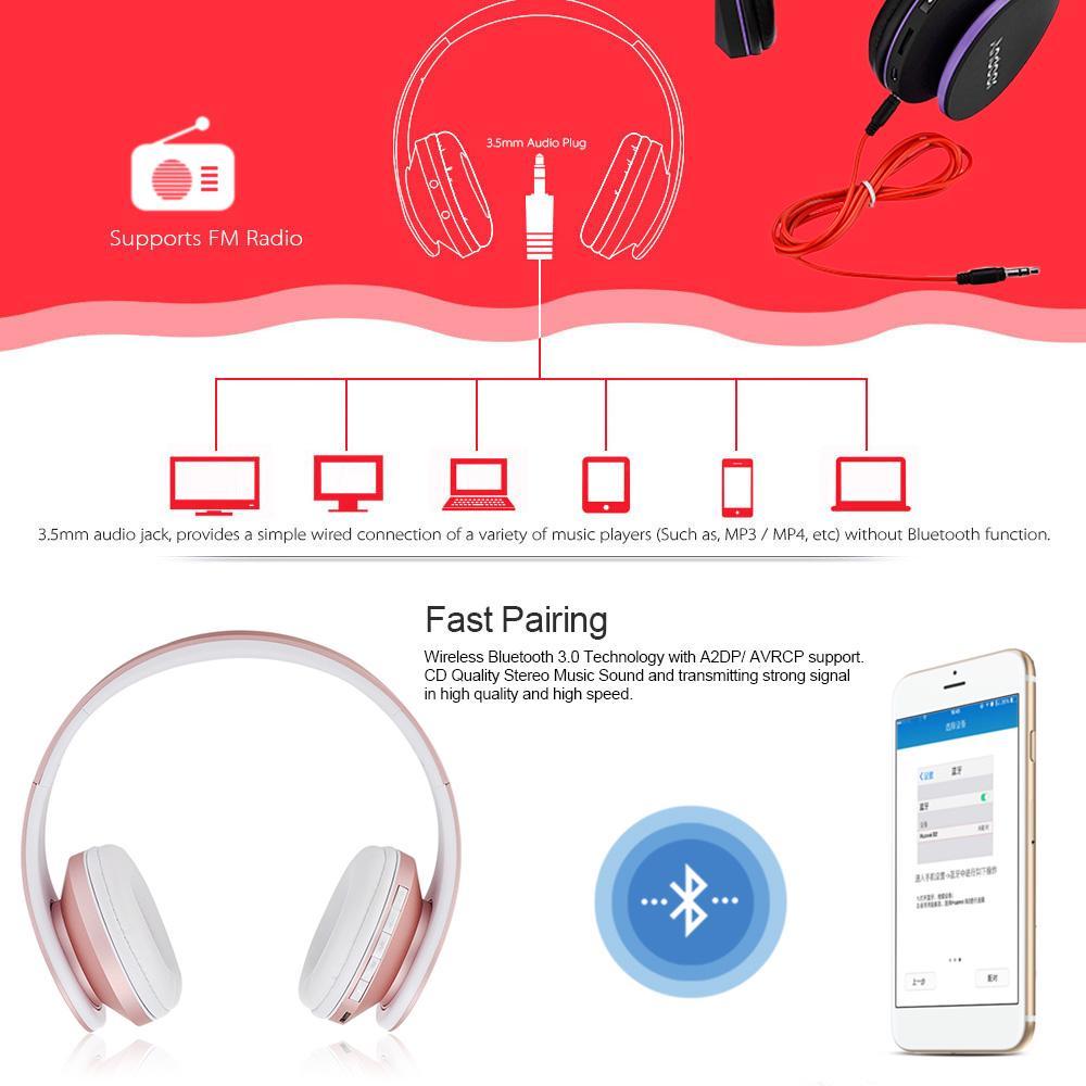 Bluetooth Earphones & Headphones Earphones & Headphones Enthusiastic New Portable Wireless Bluetooth Headset Foldable Stereo Adjustable Mp3 Audio Tf Card Input With Microphone Headset