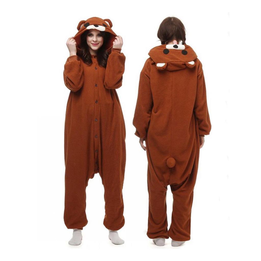 0fdbbb7220 WOTOGOLD Animal Cosplay traje oso café pijama adulto Unisex ...