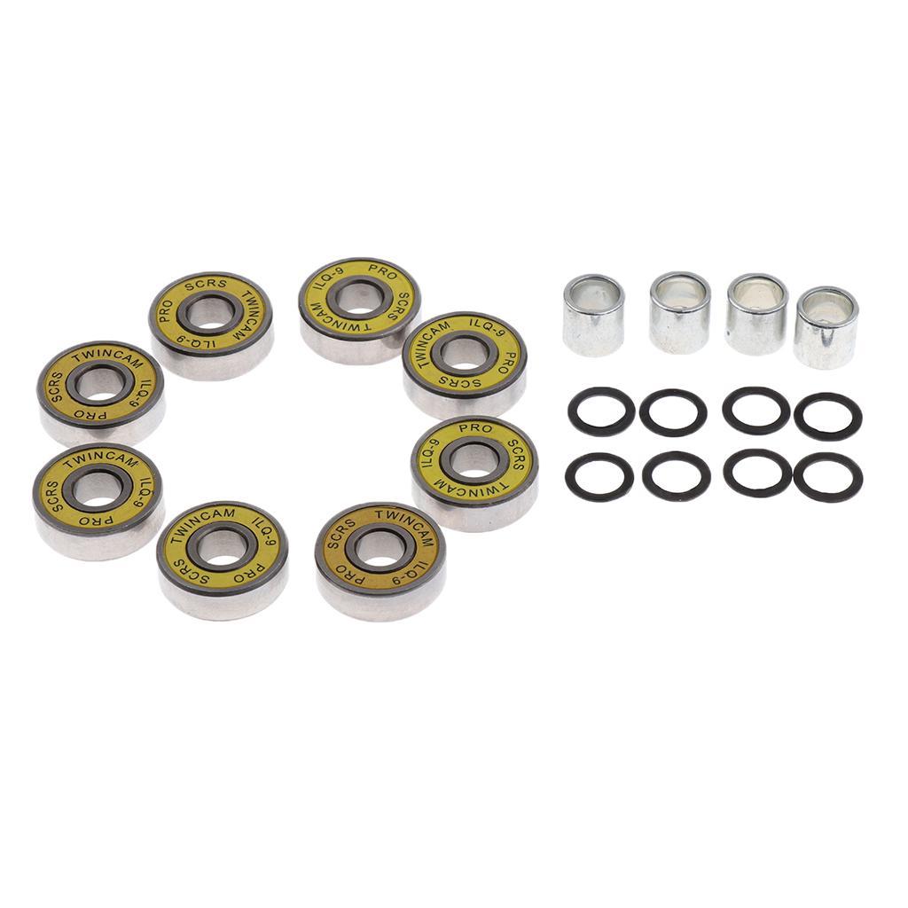 8pcs Skate Roller Inline Skate Rueda Rodamiento espaciadores accesorio 8/mm