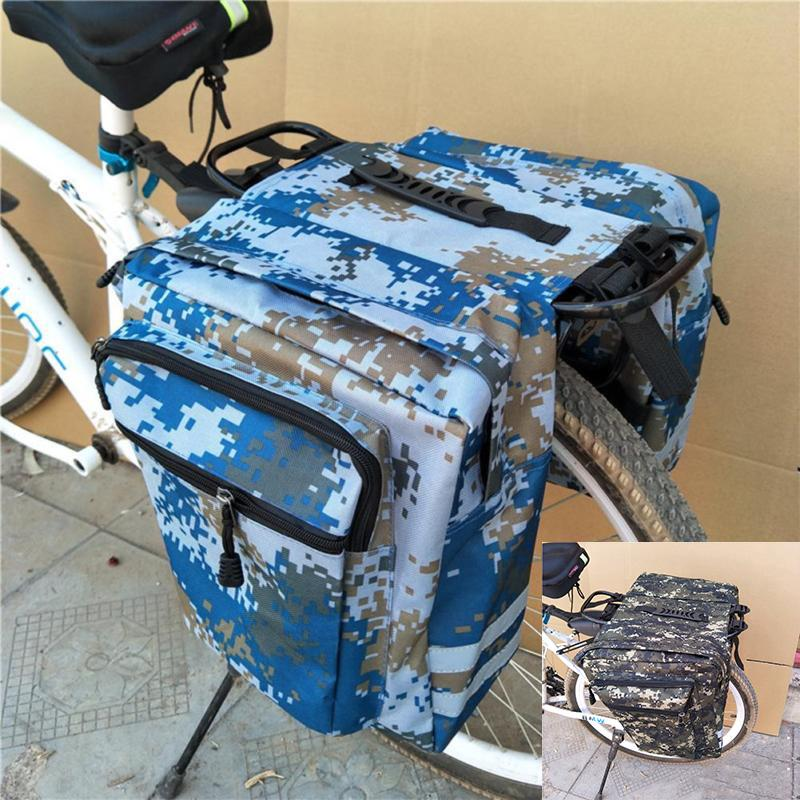 Pannier Rack Luggage Carrier Tail Saddle Bag Bike Seat Rear Pouch Pack Shoulder